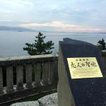 赤穂の伊和都比売神社にある恋人の聖地「一望の席」から見る夕日の話