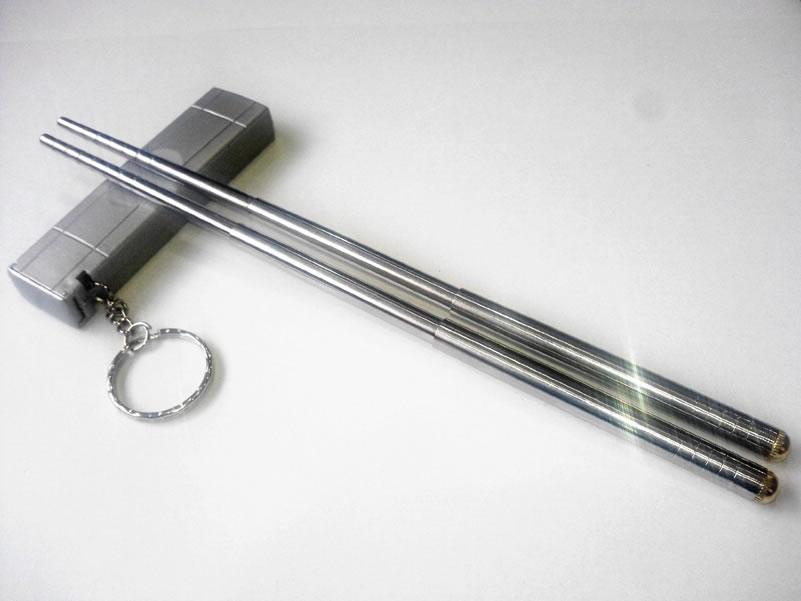 携帯箸 伸縮タイプ シルバー