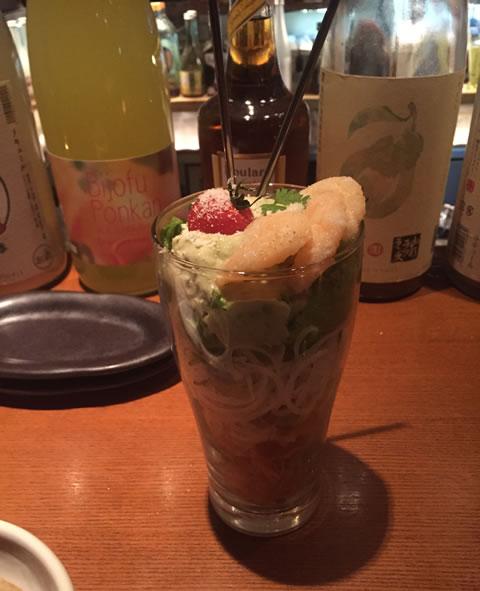 アボガドと海老のサラダ
