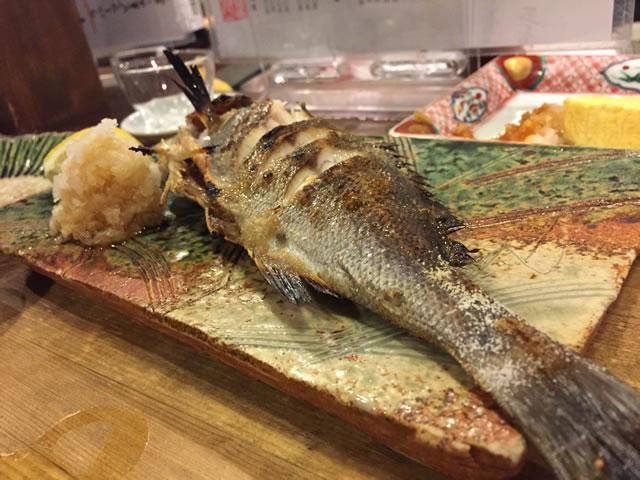 イサキ焼き魚