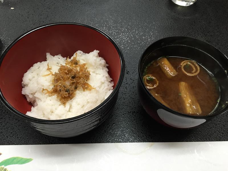 〆のちりめん山椒ご飯